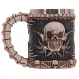 Cool Personalized Double Wall Stainless Steel 3D Skull Mugs Coffee Cup Mug Skull Knight Tankard Dragon Drinking Cup Funny Creative Coffee Cups and Mugs