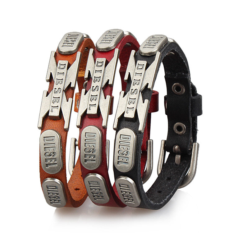 Cool Rock Punk Men Women Fashion Genuine Leather Bracelets Fashion Bracelet