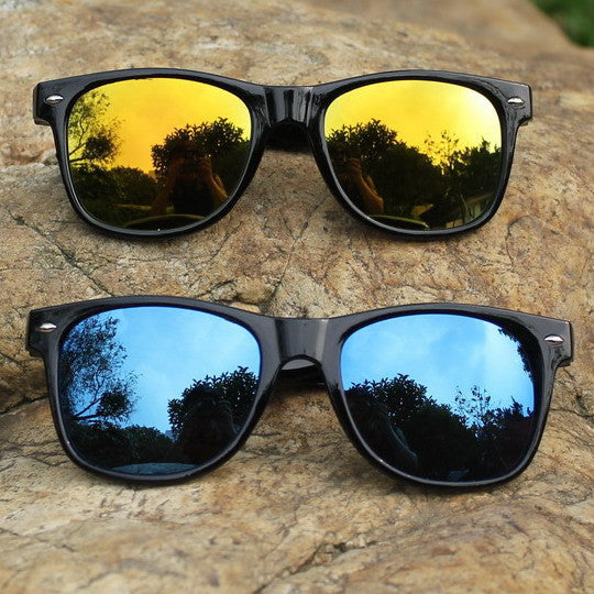 Cool Sunglasses for Men Women Colorful Bright Classical Fashion Summer Oculos Mirror UV Protection Glasses