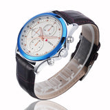 Curren Brand Fashion Quartz Watch Genuine Leather Band Analog Display 4 Colors Men Watch