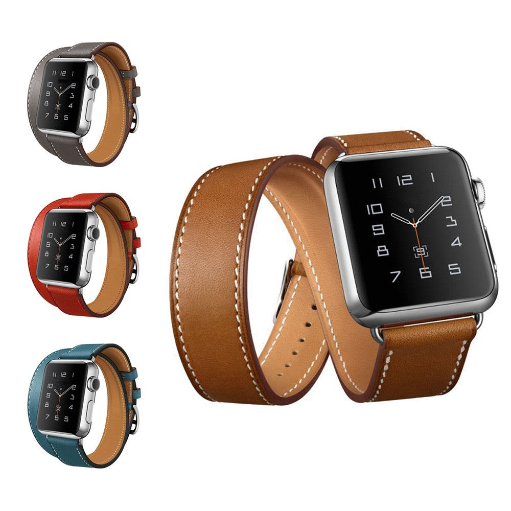 Genuine Leather Band For Apple Watch Strap Double Tour for Apple Watch Band 38MM / 42MM Size