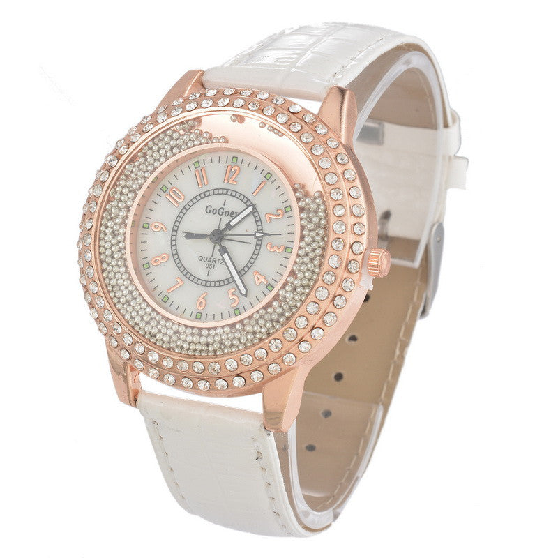Drift Rhinestone Quartz Watch Women Multicolor Leather Band Bracelet Fashion Casual Dress Wristwatches Brand Gifts