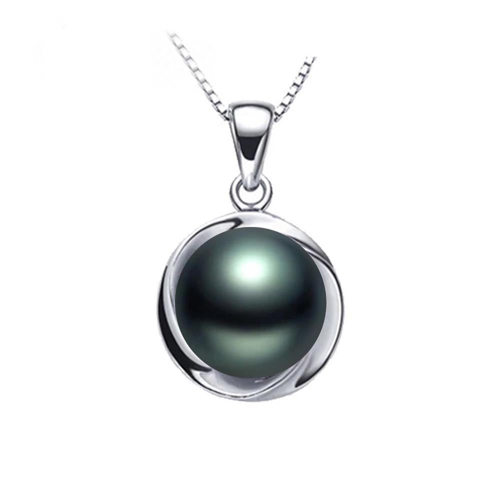 Elegant 925 sterling silver pendant necklace fashion natural freshwater pearl jewelry for women white/pink/purple