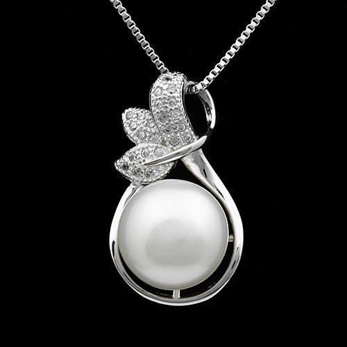 Elegant pendant necklace fashion natural freshwater pearl jewelry for women