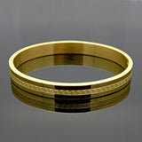 European Fancy Style 18K Real Gold Plated Top Quality 316L Stainless Steel Women Men Jewelry New Trendy Brand Bracelets Bangles