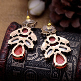 European Pop Multicolor Droplets Cluster Earrings Women Statement Jewelry