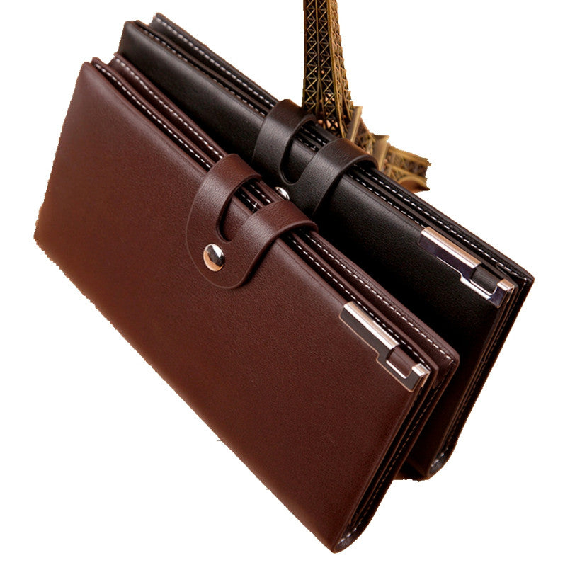 Excellent Quality Hot New Fashion Design Back Men Wallets Long Zipper Brown Purse Women Clutch Carteira Masculina Porte Monnaie