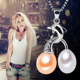 Exclusive styles 8-9 mm natural freshwater pearl necklace pendant pendant