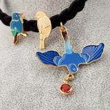 Exquisite Cute Blue Enamel Bird Rope Charm Bracelet Fashion Pulseras Mujer for Women's Christmas Gifts