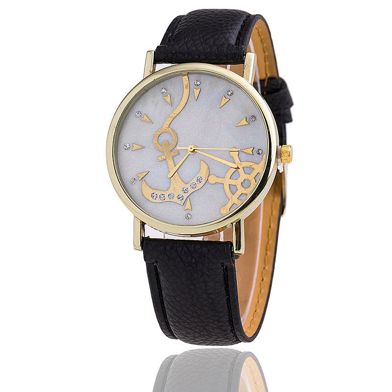 Fashion Anchor Watch Relogio Feminino Women Watch Leather Strap Watches Quartz Watch Gift
