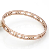 Fashion Brand Roman Number Bangle Cuff Bracelets For Women 18K Rose Gold Bangle Stainless Steel Bracelets Bangles Fine Jewelry