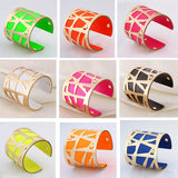 Fashion Cuff Bangles For Women Manchette jewellery Girl Gold Color with Colorful Bracelets New vintage jewelry