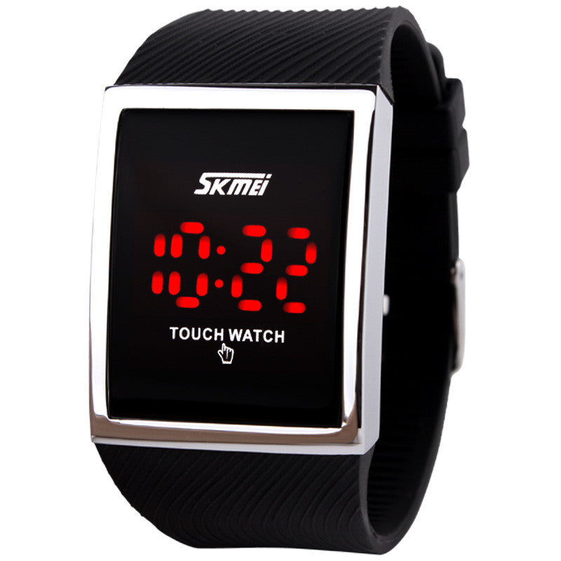 Fashion Men Women Electronic LED Touch Candy Jelly Watch Silicone Sports Digital Watch