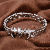 Fashion Punk Skull Stainless Steel Charm bracelet for Women DIY Bracelets & Bangles Charms Bracelets Men Pulseira Jewelry Gift