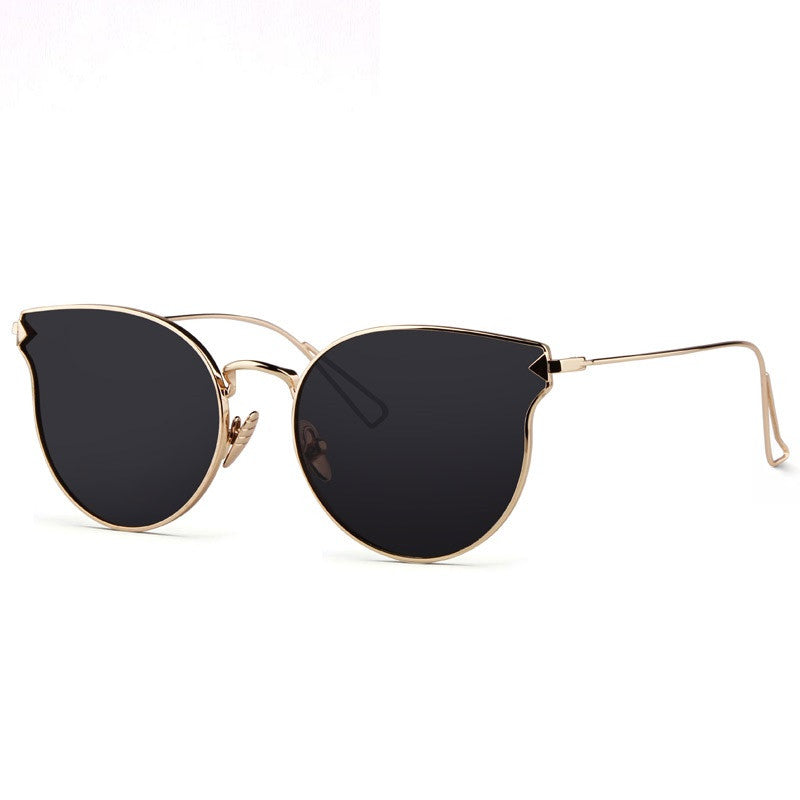 Fashion Sunglasses Women Cat Eye Sunglasses Famous Lady Brand Designer Twin-Beams Sunglasses Coating Mirror Glasses UV400