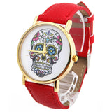 Fashion Wholsale Design Women Dress watches Quartz Watch fashion SKULL Watch Ladies Men Sport Watch
