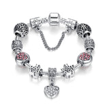 Fashion Women Bracelet Silver Plated Charm bracelet for Women DIY Beads Jewelry Fit Original Bracelets Pulseira Gfit