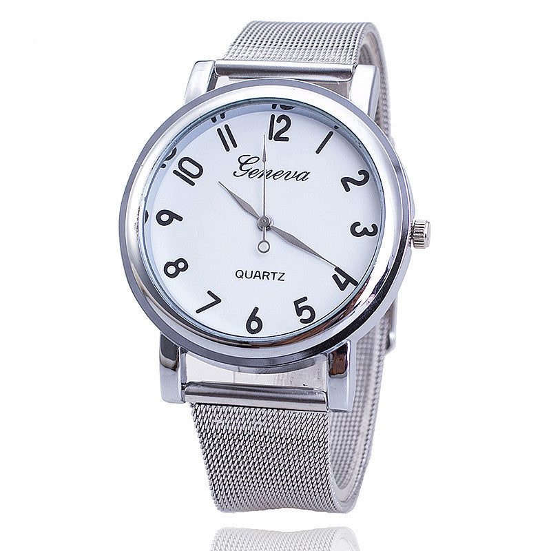 Fashion Women Watch Relogio Feminino Silver Band Geneva Watch Ladies Quarzt Watch