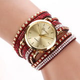 Fashion 15 Colors Summer Style Luxury Casual Geneva Wristwatch Watch Women Gold Bracelet Dress Watch Lady's Quartz
