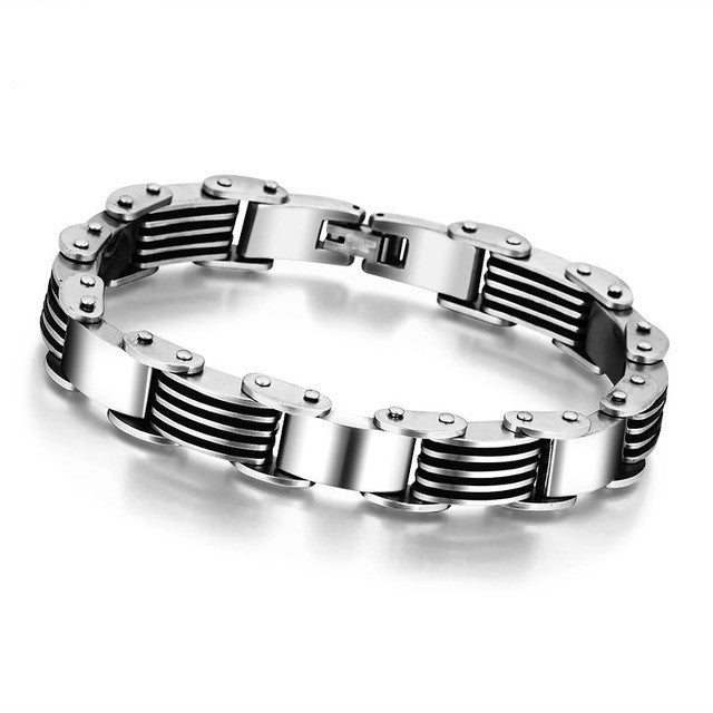 Fashion 225mm Stainless Steel Bracelets & Bangles Men Punk Jewelry