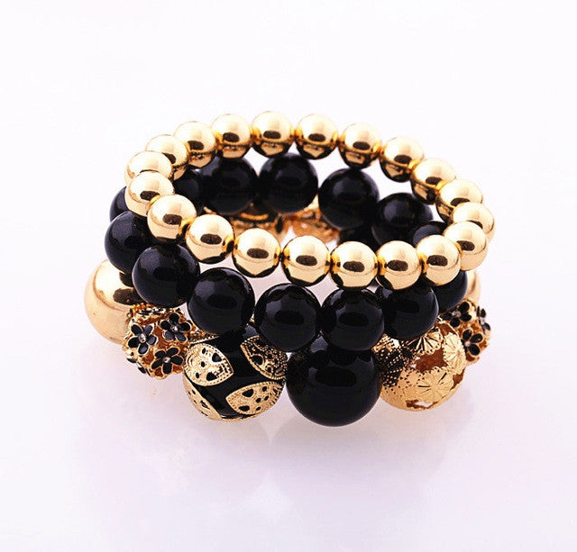 Fashion Accessories women's Beaded Elastic Bracelet
