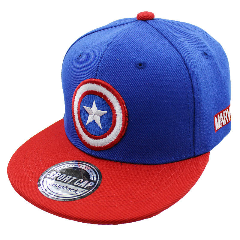 Fashion Boy Baseball Caps For 3-8 Years Old Children Captain America Design Snapback Caps Adjustable Cap For Girl
