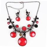 Fashion Brand Jewelry Sets GunmetalSilverGold Plated Bridal Necklace Set Coral Design High Quality New Arrival