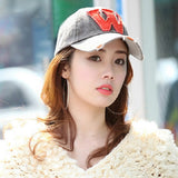 Fashion Caps Letter W Baseball Cap Cotton Knitted Sports Caps Hip-pop Hat Golf Fashion Cap Snapback