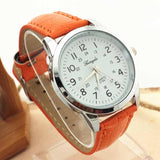 Fashion Elegant Luxury Woman Man Unisex Analog Ladies Watch Leather Strap Quartz Watch WristWatch