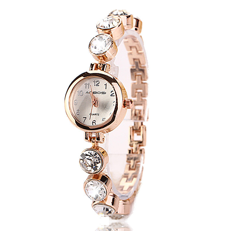 Fashion Hot Selling Casual Stainless Steel Luxury Bracelet Jewelry Wristwatch Women Dress Sport Lady Cause Watch