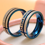 "Fashion Jewelry 316L Stainless Steel Simple Circle ""Love Only You"" Couple Rings,Wedding Ring,Engagement Rings"
