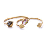 Fashion Jewelry Brand Designer Gold Plated Set Crystal A Set Female Bracelet Bangle