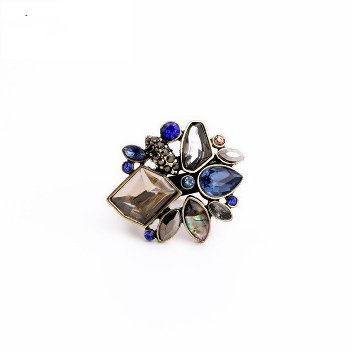 Fashion Jewelry Brand Designer Valentine's Day Anel Jewelry Elegant Rhinestone Ring
