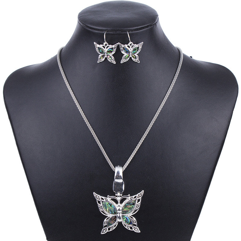 Fashion Jewelry Sets Hight Quality Necklace Sets For Women Jewelry Silver Plated Butterfly Unique Design Party Gifts