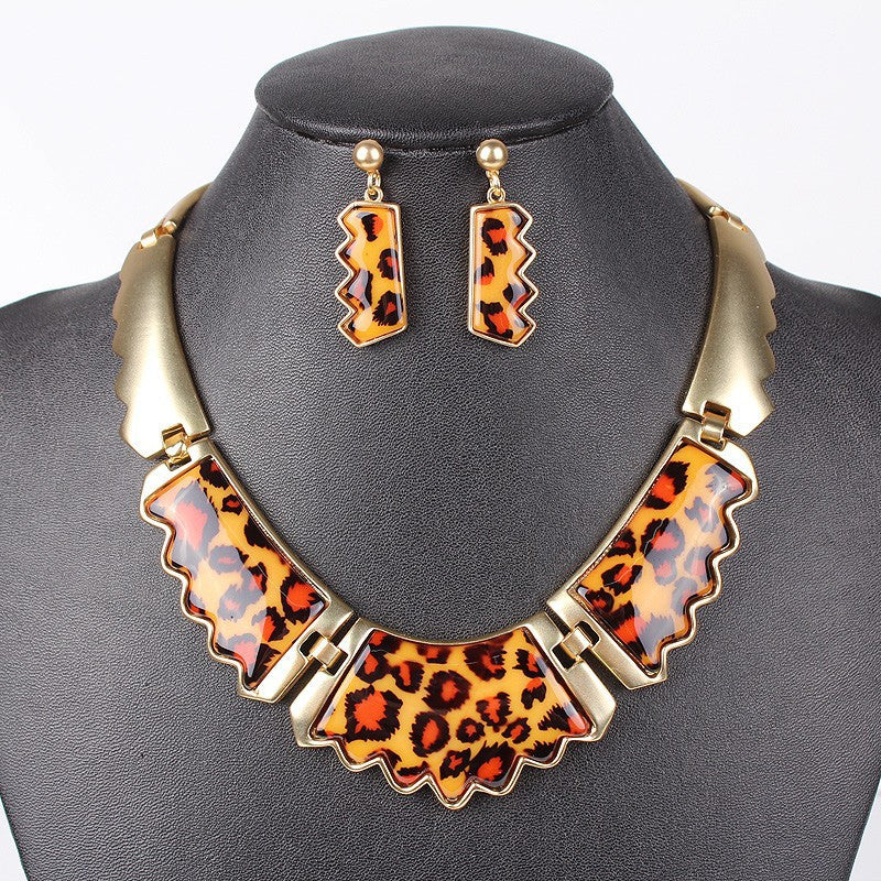 Fashion Jewelry Sets Leopard Resin colors Gold/Silver Plated High Quality Party Gifts New Arrival