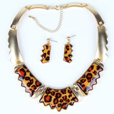 Fashion Jewelry Sets Leopard Resin colors GoldSilver Plated High Quality Party Gifts New Arrival