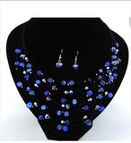 Fashion Jewelry Sets for Women Joyeria Crystal Beads Statement Necklaces Earrings Set Bijoux Parure Bijoux Femme