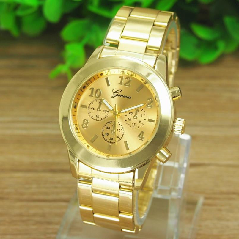Fashion Ladies Girl Unisex Stainless Steel Bangle Bracelet Wrist Watch Quartz Dress Watches Women Relogios