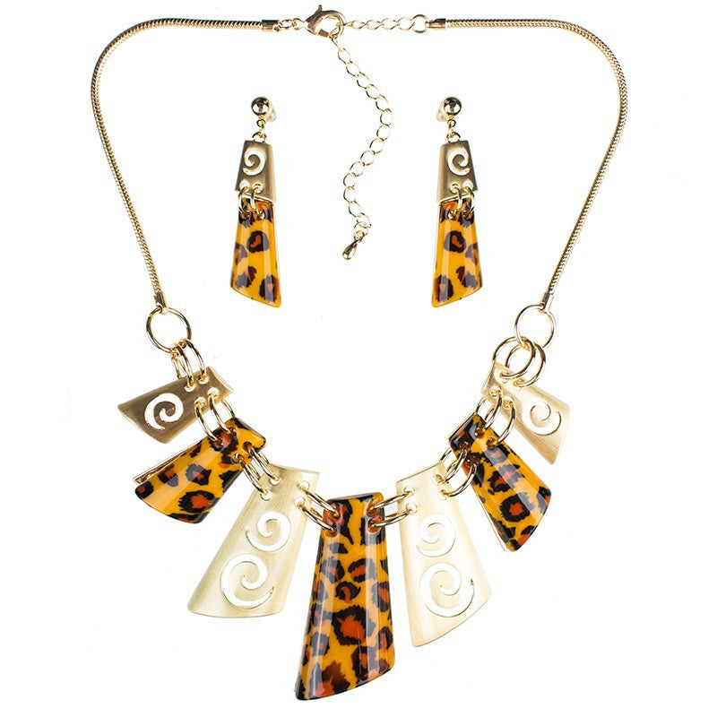 Fashion Leopard Jewelry Sets Woman's Necklace Earring Set Wedding Jewelry Sets New High Quality Party Gifts