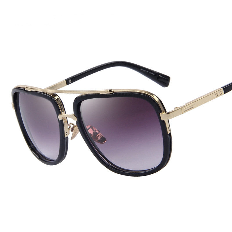 Fashion Men Sunglasses Classic Women Brand Designer Metal Square Sun glasses