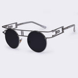 Fashion Metal Frame Steampunk Sunglasses Women Brand Designer Unique Men Gothic Sun glasses Vintage Oculos De Sol Feminino