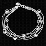 Fashion Silver Beads chain bracelet women lady gift