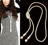 Fashion Simulated Pearl Jewelry Necklace for Women Choker Long Statement Necklace Colares Femininos Bijuterias Collar