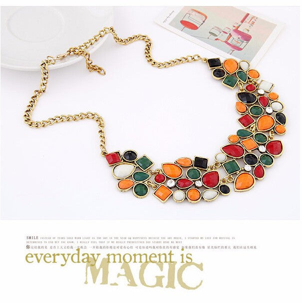 Fashion Statement Necklaces & Pendants for Women Collier Femme Vintage Maxi Necklace Collares Mujer Kolye Jewelry Bijoux