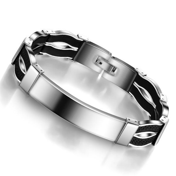 Fashion Steel Men Bracelet Casual 304L Stainless Steel Bracelet For Men