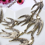 Fashion Women Brand Accessories Vintage Jewelry Swallow Necklace Alloy Clavicle Chain