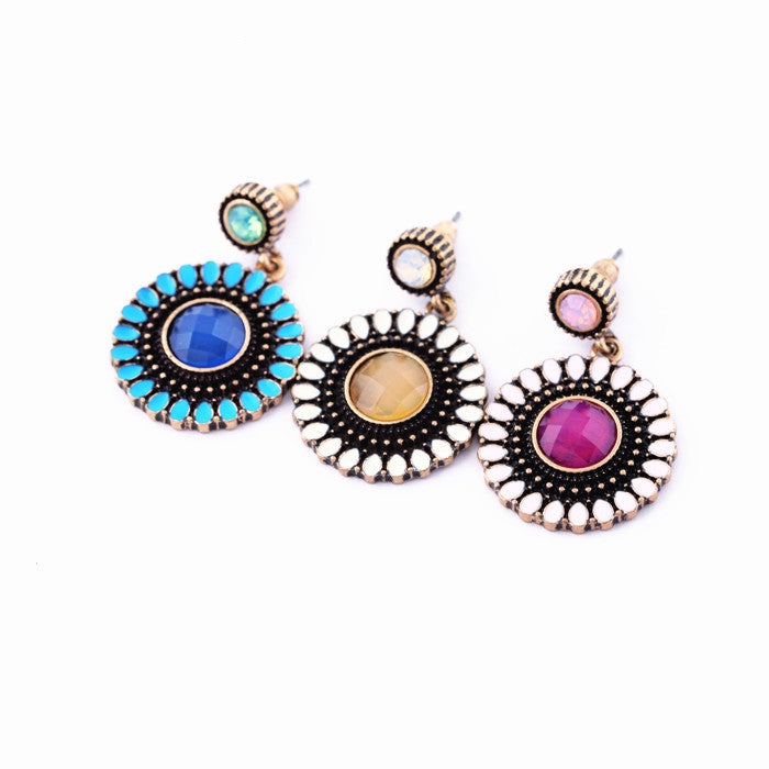 Fashion earrings accessories flower women's earrings vintage earrings