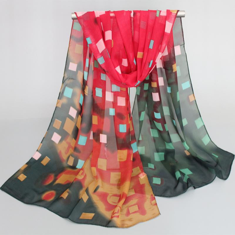 Fashion scarf women scarves chiffon scarves soft smooth thin silk scarf for women phasmina women shawl