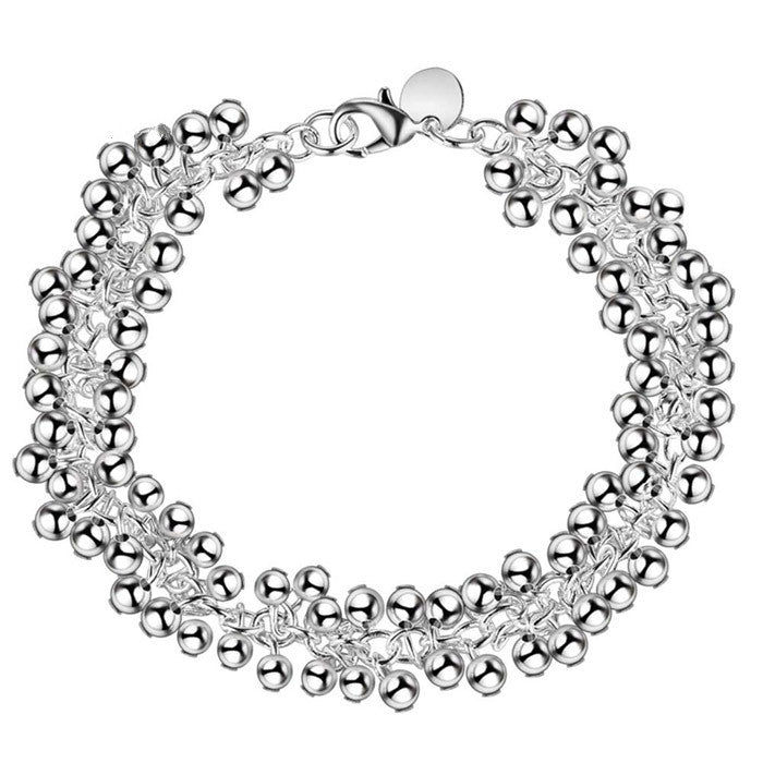Fashion silver Beads chain bracelet women children best gift cute design jewelry