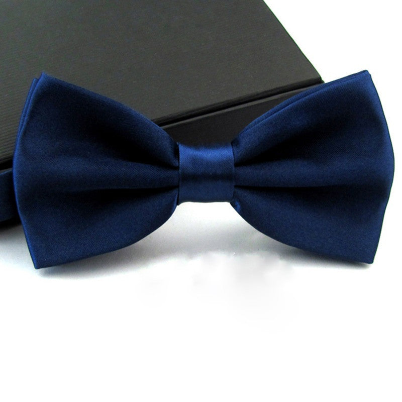 Fashions Men's Formal Commercial bowties Solid Color Tuxedo Classic Bowtie Pre Wedding Party Satin Bow Tie Necktie